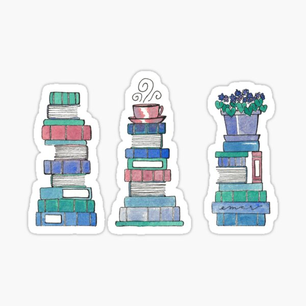 Books and African Violets Sticker