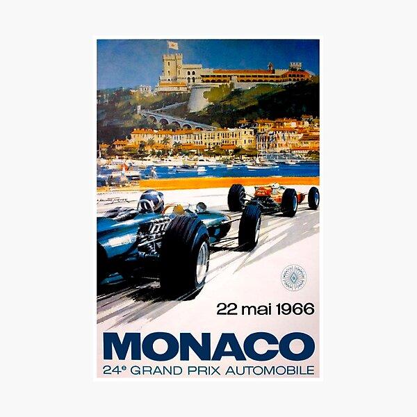 MONACO GRAND PRIX; Vintage 1966 Auto Racing Print Photographic Print