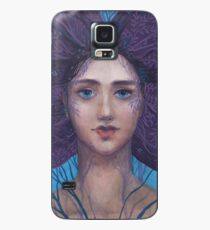 Primavera, Surreal Portrait, Blue Violet Case/Skin for Samsung Galaxy