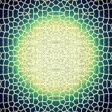 Lime green circle print pattern by Julieford