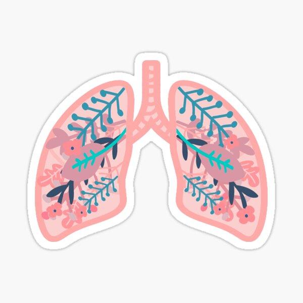 Flower Lung Sticker