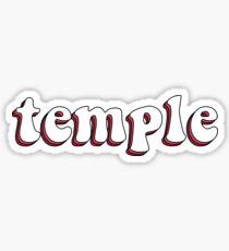 Temple University Retro Sticker