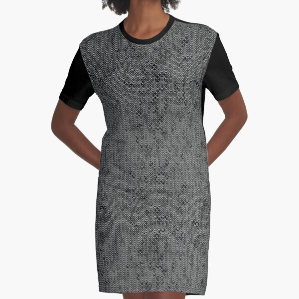 Chainmail Graphic T-Shirt Dress