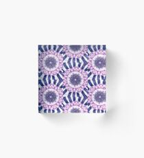 Purple Manada theme pattern Acrylic Block