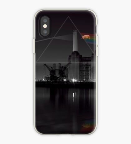 Battersea pink floyd pig and prism iPhone Case