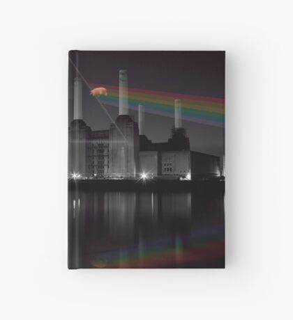 Battersea pink floyd pig and prism Hardcover Journal
