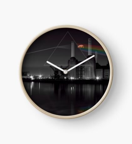 Battersea pink floyd pig and prism Clock