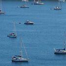 Yachts in Corfu, Greece by Igor Pozdnyakov