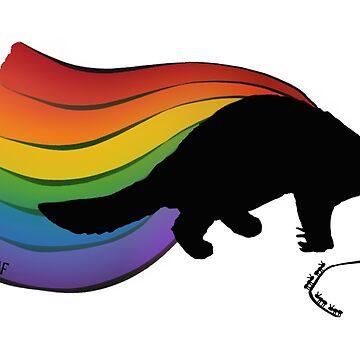 Pangolin Rainbow Power! by DILLIGAF
