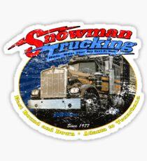 Snowman Trucking Sticker