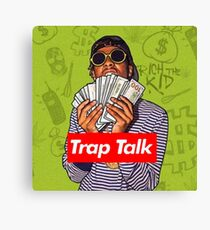 Rich The Kid Trap Talk Canvas Print