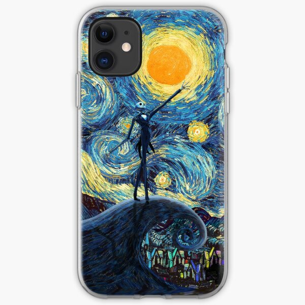 Jack Scary night abstract paintings iPhone Soft Case