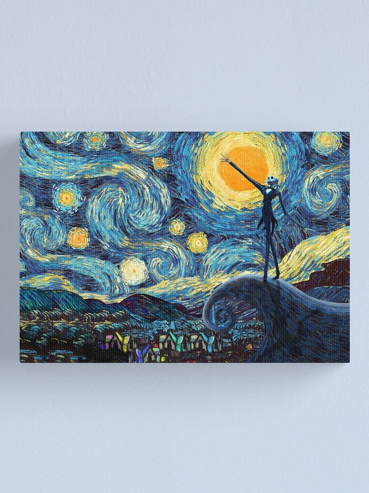 Alternate view of Jack Scary night abstract paintings Canvas Print