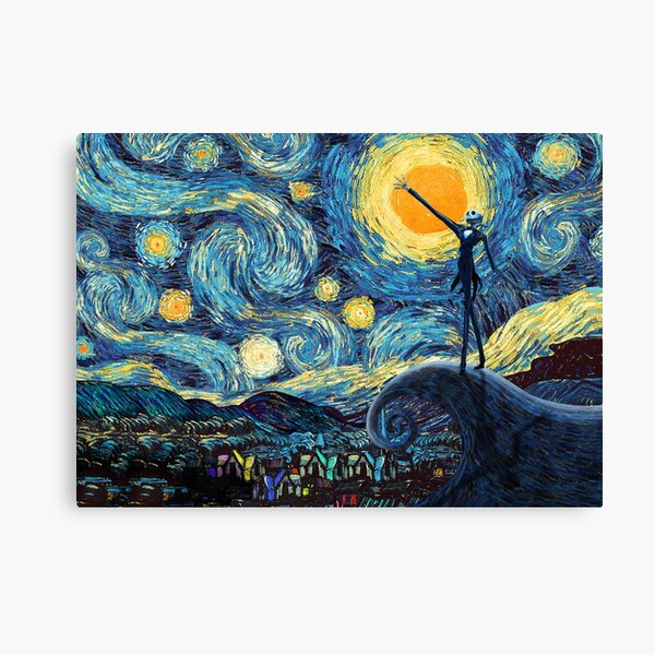 Jack Scary night abstract paintings Canvas Print