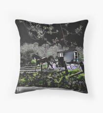 Amish Traveler Throw Pillow