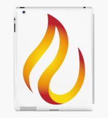 t-shirt design fire flame shirt tee iPad Case/Skin