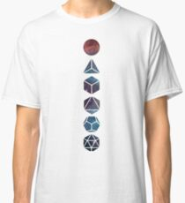 Platonic Solids, Vertical with Nebula Classic T-Shirt