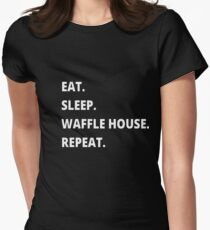 Eat. Sleep. Waffle House. Repeat. Women's Fitted T-Shirt