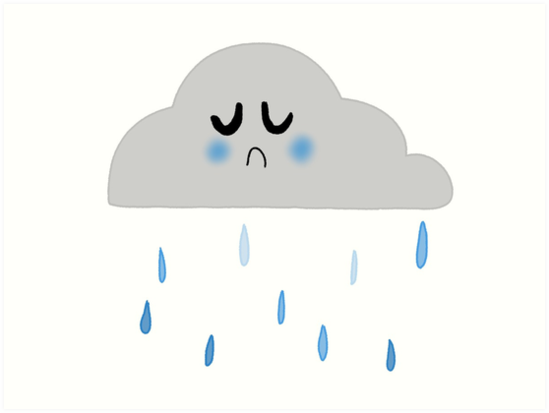 "Sad rain cloud"" Art Print by EndsIsWeird 
