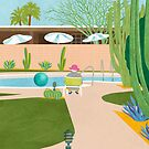 Poolside in Palm Springs by challisandroos