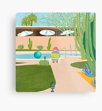 Poolside in Palm Springs Metalldruck
