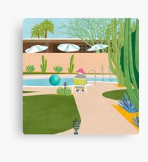 Poolside in Palm Springs Canvas Print