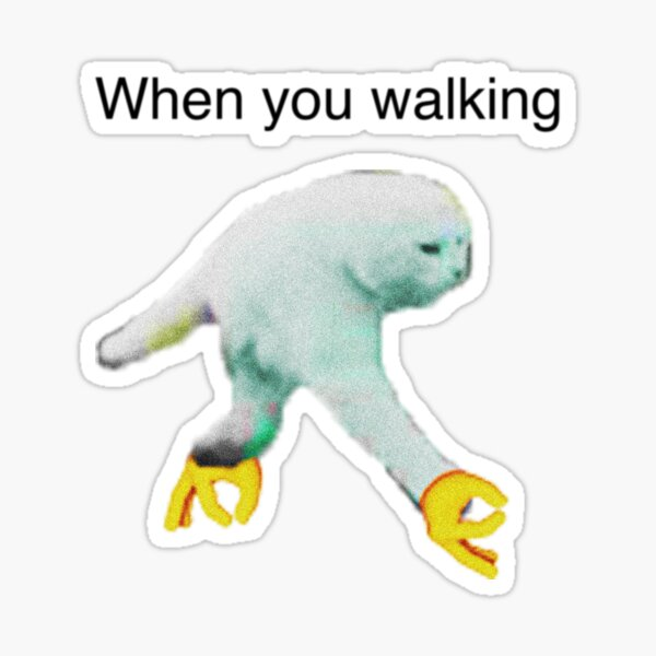 WHEN YOU WALKING DANK MEME Sticker