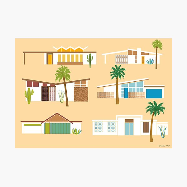 Palm Springs Houses Photographic Print