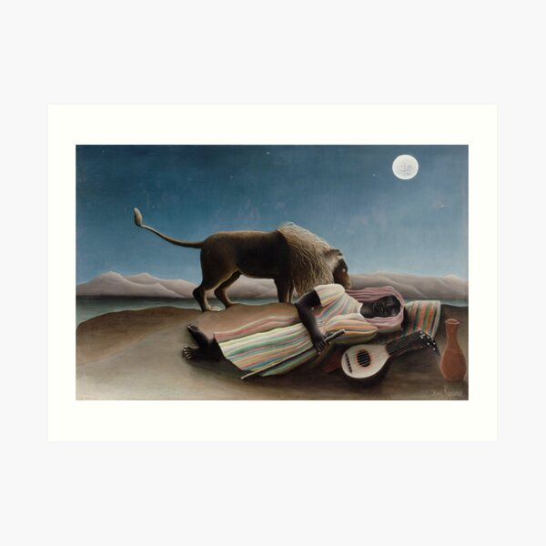 The Sleeping Gypsy by Henri Rousseau, 1897 Art Print