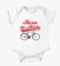 Born To Ride Bike Design One Piece - Short Sleeve
