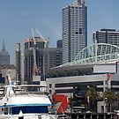 cityscapes #95, boat before 7 by stickelsimages