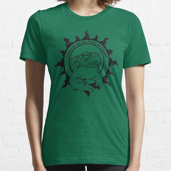 Church of the Toad of Light Psychedlic Frog Licking (Distressed) Essential T-Shirt