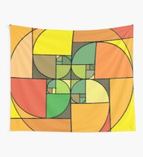 Golden Array of Fall Wall Tapestry
