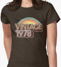 Camiseta entallada para mujer Vintage 1978 cumpleaños apenado