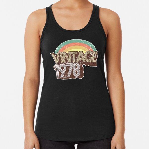 Vintage 1978 Distressed Birthday Racerback Tank Top