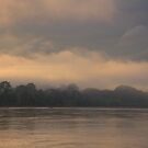 Dawn on the Manu River, Parque Nacional del Manu, Peru by Erik Schlogl
