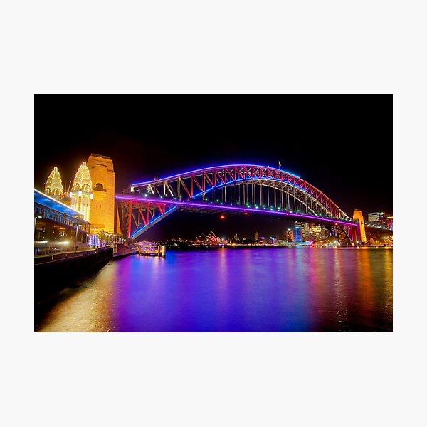 Vivid Bridge Photographic Print