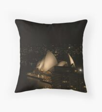 Sydney Opera House @ Night Throw Pillow