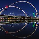 "Dallas Skyline ""Margaret McDermott Bridge"" Reflection by josephhaubert"