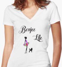 Boujee Leben, Sein Boujee, Fancy Girl Tailliertes T-Shirt mit V-Ausschnitt