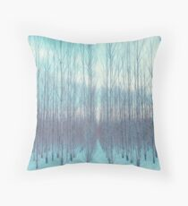 Pastel Trees in a Row, Minnesota Floor Pillow