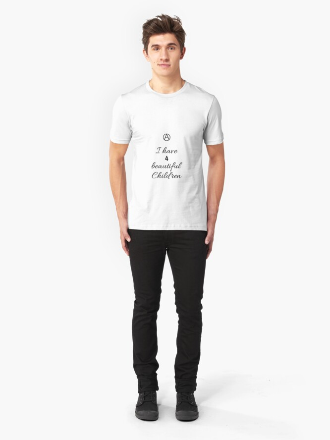 Alternate view of 4 Beautiful Children  Slim Fit T-Shirt