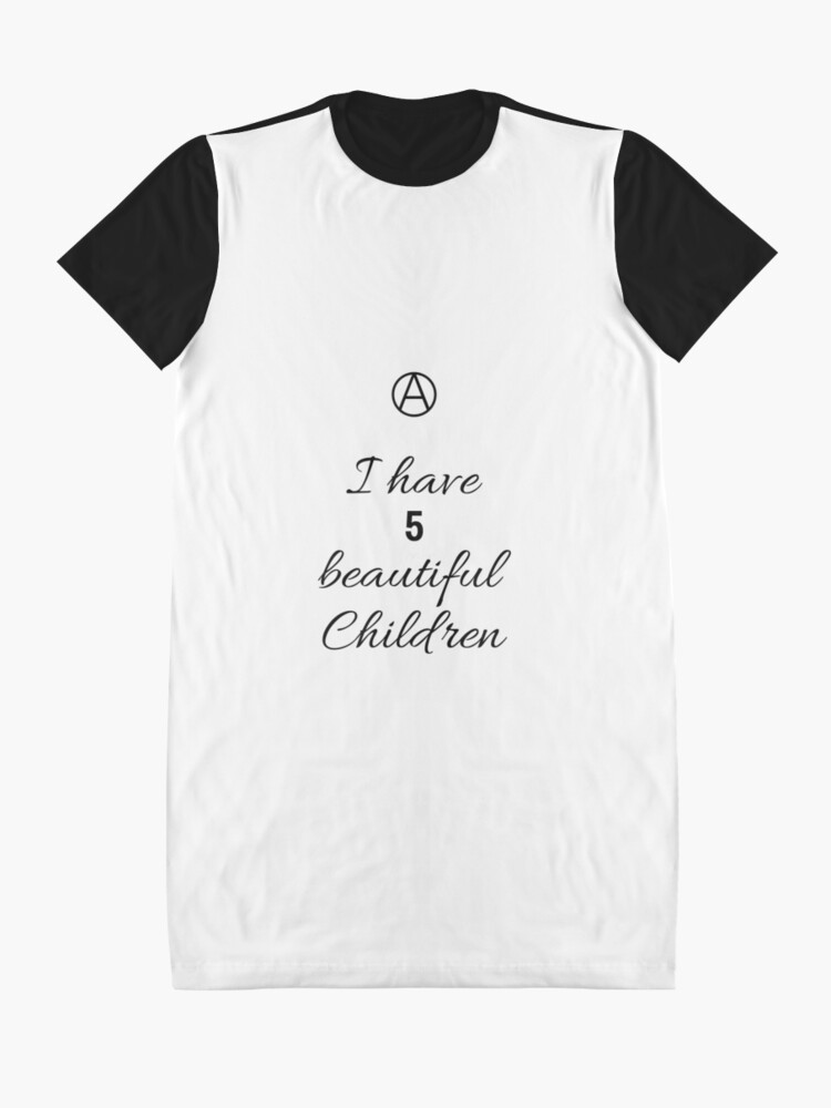 Alternate view of 5 Beautiful Children  Graphic T-Shirt Dress