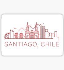 Santiago Chile Sticker