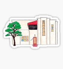Adah Robinson House by Bruce Goff Sticker