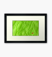 Creased Paper Green Framed Print