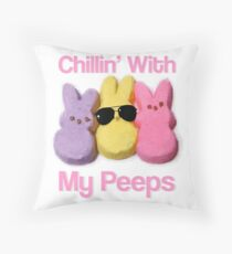 Girlfriend gift easter gifts merchandise redbubble easter chillin with my peeps gift idea fun design gift for sister girlfriend mom throw pillow negle Gallery