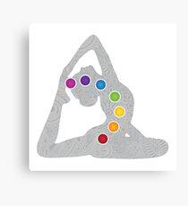 Yoga Pose Chakra Canvas Print