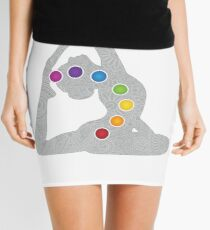 Yoga Pose Chakra Mini Skirt