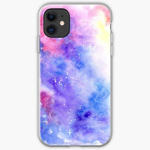 Watercolor Galaxy iPhone Soft Case